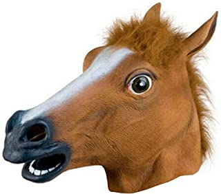 Halloween Easter Horse Head Mask Horse Head Cover New Horse Head Mask Latex Prop Style Toys Party Halloween