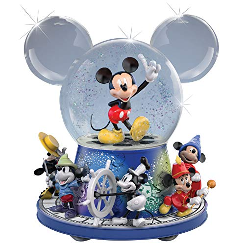 Disney Mickey Mouse Bradford Exchange Glitter Globe With Motion And Music