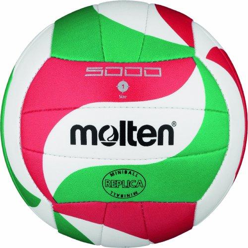 Molten Wettspiel Volleyball klein 135 g Ball, Weiß/Grün/Rot, Durchmesser: 150 mm