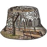 Bucket Hat Packable Reversible Town of Paris Print Sun Hat Fisherman Hat Cap Outdoor Camping Fishing Safari Unisex