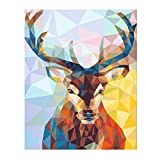 WAITATA Paint by Digital Set Paint Process Acrylic DIY Oil Painting for Children and Adults Beginner Animal Canvas (20' x 16' Color Deer)