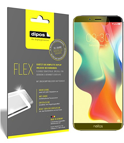 dipos I 3X Schutzfolie 100prozent kompatibel mit TP-Link Neffos X9 Folie (Vollständige Bildschirmabdeckung) Bildschirmschutzfolie