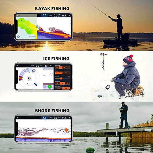 Deeper Chirp Castable and Portable Fish Finder for Kayaks Boats on Shore Ice Fishing Wireless Fishfinder Smart Sonar Fish Radar Depth Finder in a Limited Edition Box