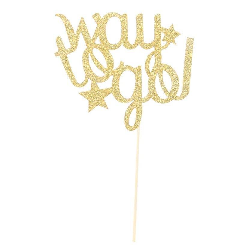 Gold Glitter Way to Go 2019 Graduation Cake Topper-Congrats Grad Party Decorations Supplies-High School Graduation, College Graduate Cake Topper