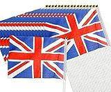 Create idea, 100 bandiere con bandiera Union Jack che sventolano a mano, bandiere Royal GB Gran Bretagna Perfert per Street Party Sports Event