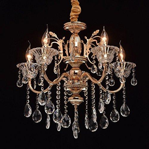 MW-Light 482013105 Kronleuchter Kerzen 5 Flammig Klassisch Goldfarbiges Metall Kristall