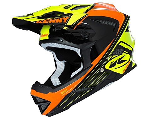 Kenny Scrub Casque Mixte Adulte, Orange Fluo/Jaune Fluo, S