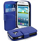 Cadorabo Coque pour Samsung Galaxy S3 Mini Bleu CÉLESTE Housse de Protection Etui Portefeuille...