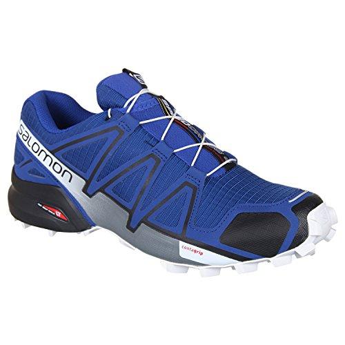 Salomon, Speedcross 4, Scarpe da Trail Running, Uomo, Blu (Mazarine Blue Wild/Black/White), 41 1/3 EU