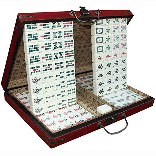 Big Shark Mahjong Set in Holzkiste feinen Acryl-Material mit Fester Box, geeignet for Unterhaltung