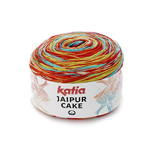 Katia Jaipur Cake Fb. 407 Lace Bobbel Cotton Fil dégradé de couleur pour tricot et crochet 200 g env. 1100 m