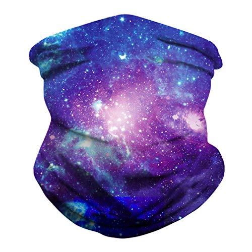 dressfan Halstuch Multifunktionale Kopfbedeckung UV-und Staubschutz Sturmhaube Gesichtsmaske Stirnband Bandanas für Outdoor-Sport und Party Special Color4 Blue Purple