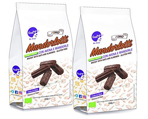 2 confezioni di MANDORLOTTI con avena e mandorle 200g (Senza glutine) - FOODUP