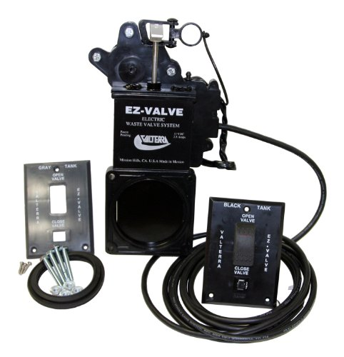 Valterra E1003VP EZ Valve 3' Electric Waste Valve System,Black
