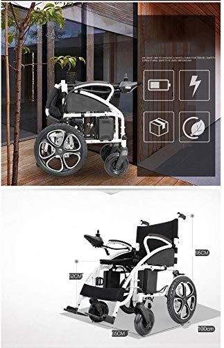 TYZXR Silla de Ruedas eléctrica portátil para Silla de Ruedas – Ightweight portátil Smart Chair Movilidad Personal Scooter Wheelchai – Agradable – Fácil de Plegar – Ruedas Grandes