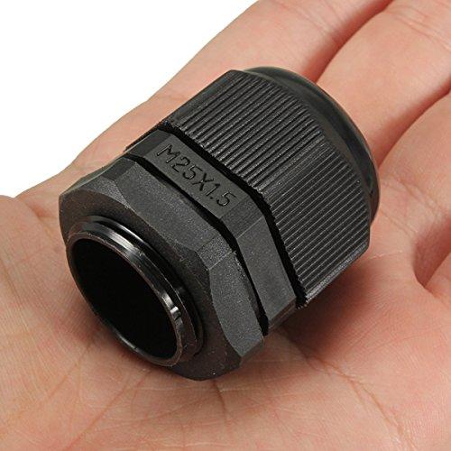 Alamor Imperméable M25 X 1.5 Ip68 Cable Presse-Étoupe TRS Contrainte De Compression De La Pression De Bourrage Écrou-Noir
