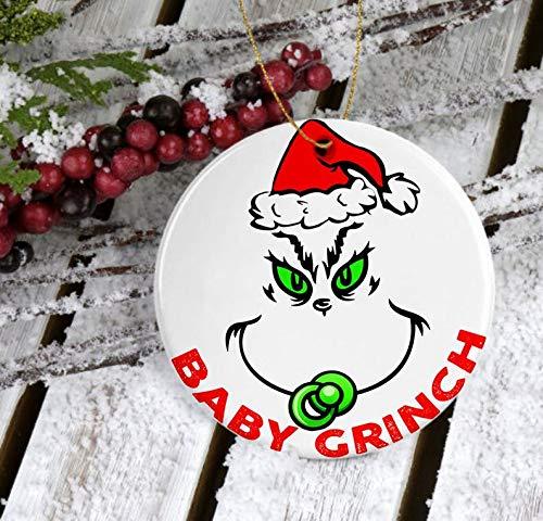 Christmas Ornament MugBaby Grinch Ornament 2020Grinch Ornament Ceramic 2020Merry Grinchmas OrnamentCute Grinch Gift 2020