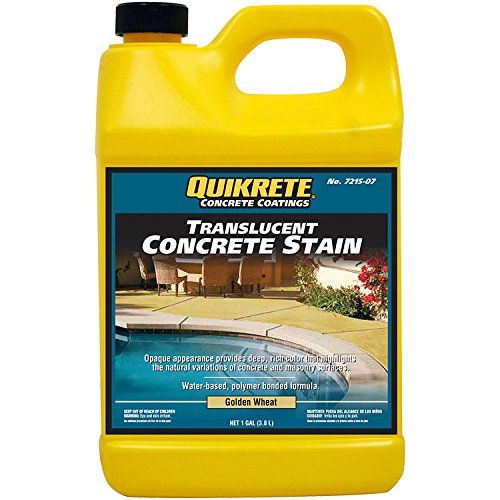 Quikrete Semi-Transparent Golden Wheat Water-Based Concrete Stain 1 gal.
