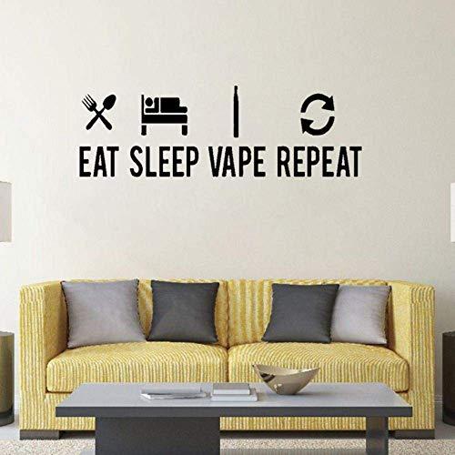 75Cm * 24.4Cm Eat Sleep Vape Wiederholung Poster Art Dekoration Pvc Wandaufkleber Wohnzimmer