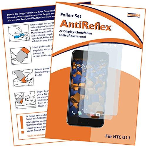 mumbi Schutzfolie kompatibel mit HTC U11 Folie matt, Displayschutzfolie (2X)
