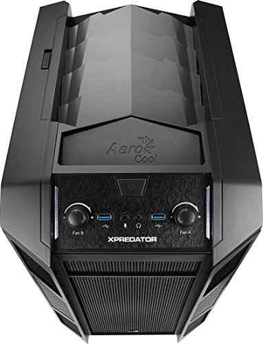 Xpredator Cube Mini Tower Computer Case with 6 Fan Controller, Fits Micro-ATX Motherboard and up to 2 x 280mm Radiators, 16 Pounds (Black)