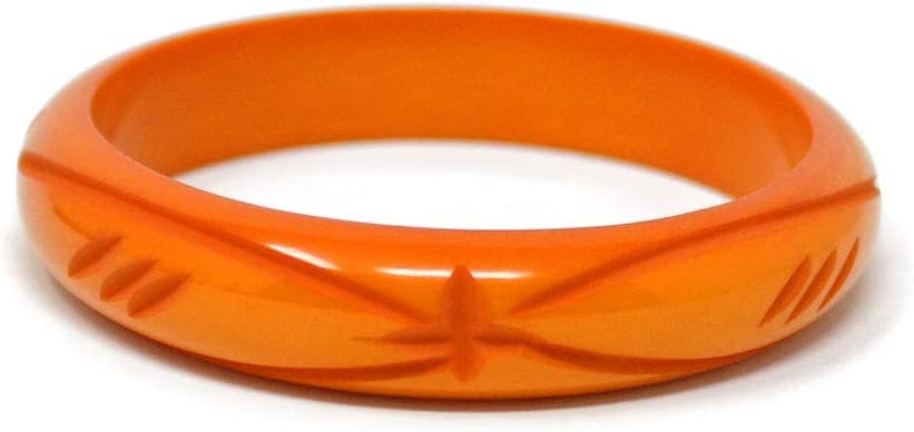 Tiki Dangle Earrings Orange Resin Pinup Retro Inspired Tropical Accessory Free Ship