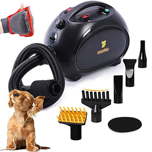 Free Paws Negative Ions Dog Dryer 4.0 HP 2 Speed Adjustable Heat Temperature Pet...