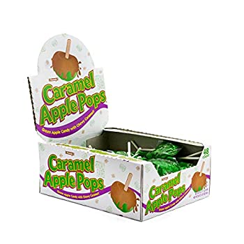 Tootsie Roll Caramel Pops Package APPLE 48 Count