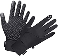 Winter Gloves for Men Women, Touch Screen Windproof Waterproof Cold Weather Warm Gloves for Running Cycling Hiking Driving (Small)