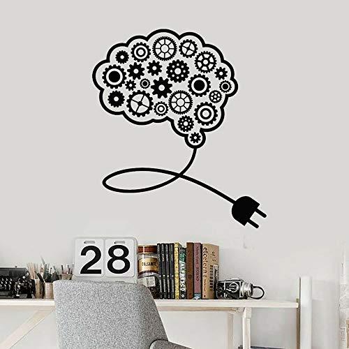 HFDHFH Calcomanía de Vinilo para Pared Gear Brain Smart Office Idea Trabajo en Equipo Pegatina Mural decoración Interior Papel Tapiz Creativo