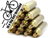 NEMT 10 Cartucce di CO2 16 Grammi per Bicicletta Unisex-Adulto filettato in Acciaio Cartucce