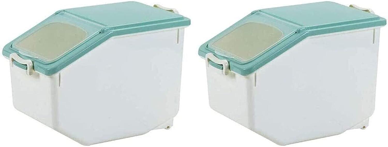 ACCDUER Grain In stock bin San Francisco Mall 2Pcs Rice Storage Container 10KG Box Sto