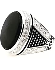 silver ring for men,size 6
