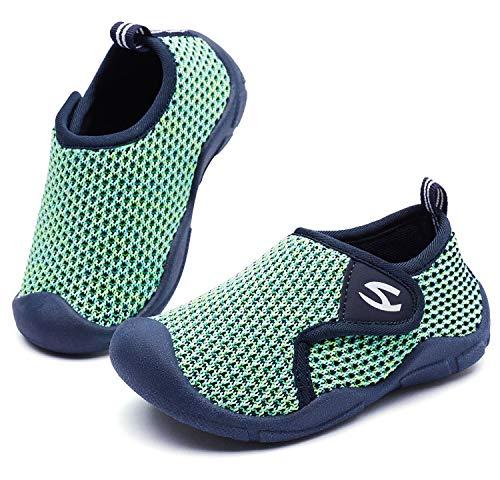 Zapatillas de Estar por Casa para Niños Niña Zapatos de Interior Antideslizantes Zapatillas de Punto Transpirable Zapatos para Bebé Primeros Pasos 26 EU