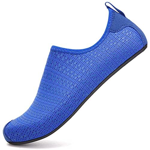 Sixspace Zapatos de baño para hombre y mujer, zapatos de agua, zapatos de playa, zapatos de secado rápido, zapatos transpirables, zapatos de surf para playa, piscina, surf, yoga, color, talla 41 EU