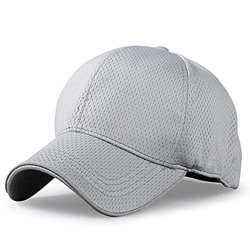 Gorras De Hombre Sombrero para el sol de malla completa de gran tamaño para hombre, gorra deportiva de montar en fresco, sombreros de pico para mujer, gorras de béisbol de talla grande para hombres