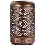 ARVIDSSON Ultrasonic Cool Mist Essential Oil Diffuser, Metal 100ml Aromatherapy Diffusers for Essential Oils, Whisper-Quiet Operation for Home, Office