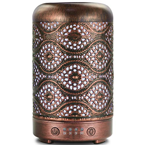 Ultrasonic Cool Mist Essential Oil Diffuser, ARVIDSSON Metal 100ml Aromatherapy Diffusers for Essential Oils, Whisper-Quiet Operation for Home, Office