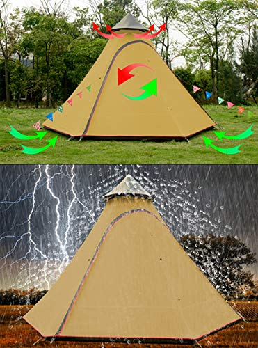 12'x10'x8'Dome Camping Tent 5-6 Person 4 Season Double Layers...