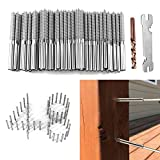 48 Pack Swage Lag Screws Left & Right for 1/8' Cable Railing kit,T316 Stainless Steel Stair Deck Railing Wood Post of Cable Railing Kit, Decking Railing Hardware, DIY Baluster Kit
