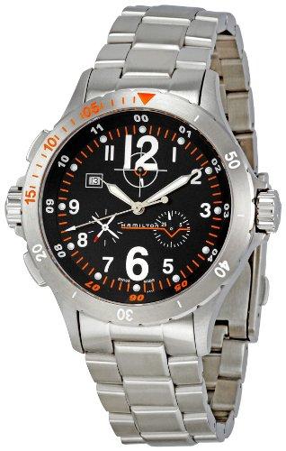Hamilton Khaki Air Chrono Quartz H74512133 - Reloj de Caballero de Cuarzo, Correa de Acero Inoxidable Color Plata