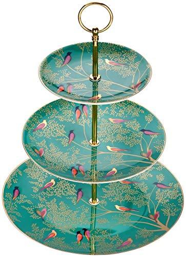 Sara Miller London Chelsea Kuchenständer, 3 Etagen, Grün, Keramik, 280 x 280 x 60 cm, SMC78963-XG