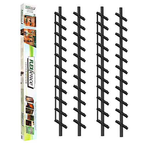 Flex-Fence, Decorative Versa Fence Louver System, Perfect for Gardens, Patios and Outdoor Spaces, Indoor and Outdoor Use, 2 Pack