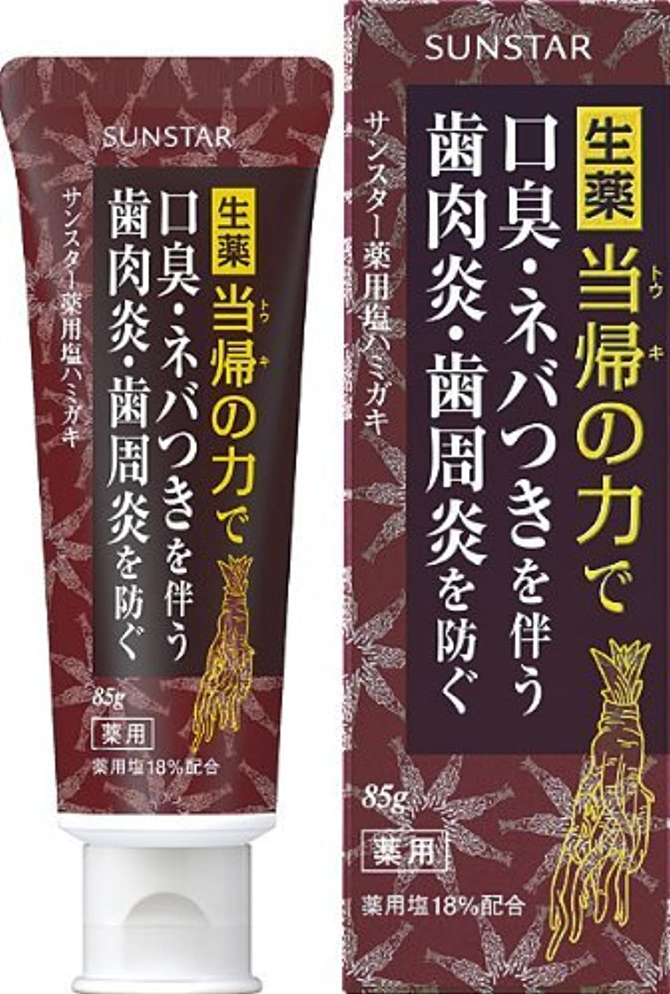 受け入れ磨かれたあいまいさサンスター 薬用塩ハミガキ 85g (医薬部外品)