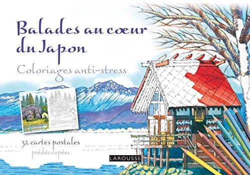 Balades au coeur du Japon Carnet coloriages carte postale (Coloriages artistes)