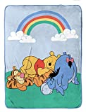 Disney Winnie The Pooh Take a Nap Raschel Blanket - Measures 60 x 80 inches, Kids Bedding Features Piglet, Tigger, & Eeyore - Fade Resistant Super Soft (Official Disney Product)