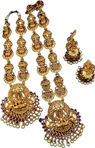 Crafting with Love Un hermoso combo de acabado mate Lakshmi conjunto con pendientes a juego se ve hermoso en cualquier mujer/niña