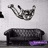 ASFGA Fallschirm Aufkleber Extremsport Fallschirmspringen Poster Vinyl Wandtattoos Dekoration Dekoration Wandbild Luft Fliegende Auto Aufkleber Club 80x140cm