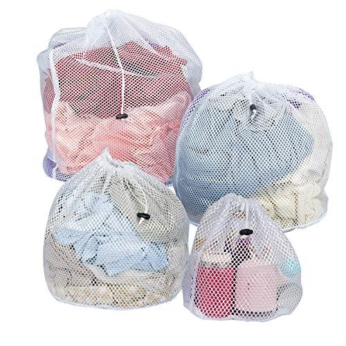 Tovee 4 Pezzi Sacchetti Rete da Biancheria per Lavatrice, Sacchetto di Lavaggio Sacchetti Portabiancheria per Vestiti, indumenti intimi, lingerie e capi delicati