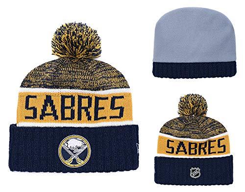 Bonnet en Tricot de Buffalo Sabres NHL sur Glace Taille Unique pour 2019 2020